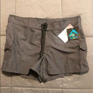 New Dark Gray Woman's size 14 board shorts Kanu